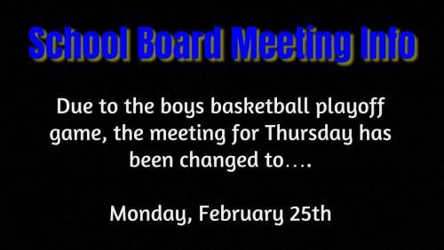 school board meeting change