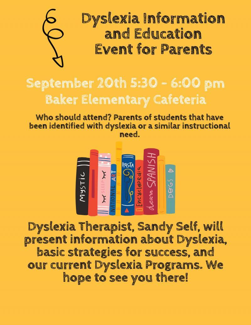 Dyslexia Education Event