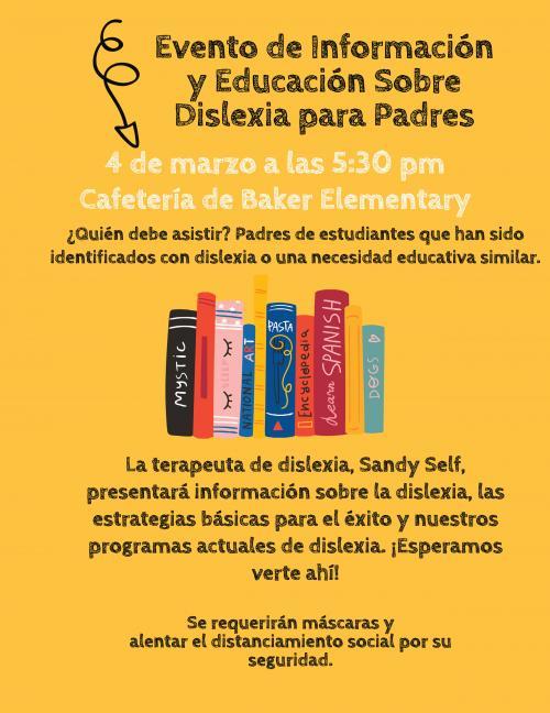 Dyslexia Parent Night Spanish