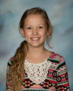 Presley McCage; September 3rd - 5th Grade Student of the Month