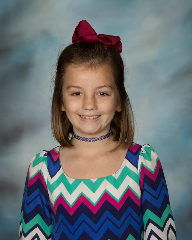 Lily Cole; 3rd - 5th Grades Student of the Year