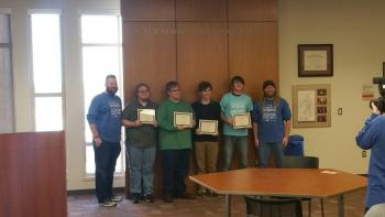Students that placed 1st at Sooner Coding competition