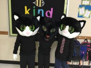 Cats--Andre, Hailey, and Weston