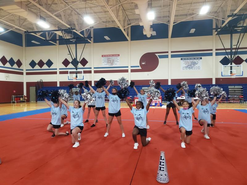 S. C. Lee cheerleaders chant their way to victory