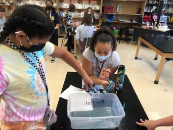 Copperas Cove Junior High students study density, mass and volume