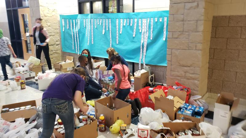 Cove schools conduct food drive to support Food for Families