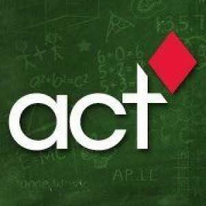Green Chalkboard Background with ACT text in center. ACT Logo