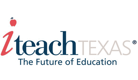 iTeach Texas. The Future of Education. iTeach Logo. White background