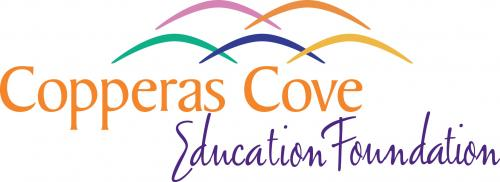 Copperas Cove Public Education Foundation logo with curved lines