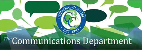 CCISD logo The Communications Department header