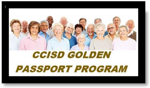 CCISD Golden Passport Program header with elderly people
