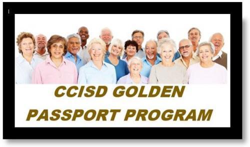 CCISD Golden Passport Program header with elderly people