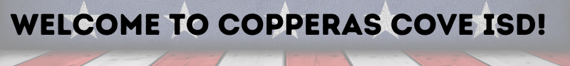 welcome to copperas cove isd image with stars and stripes