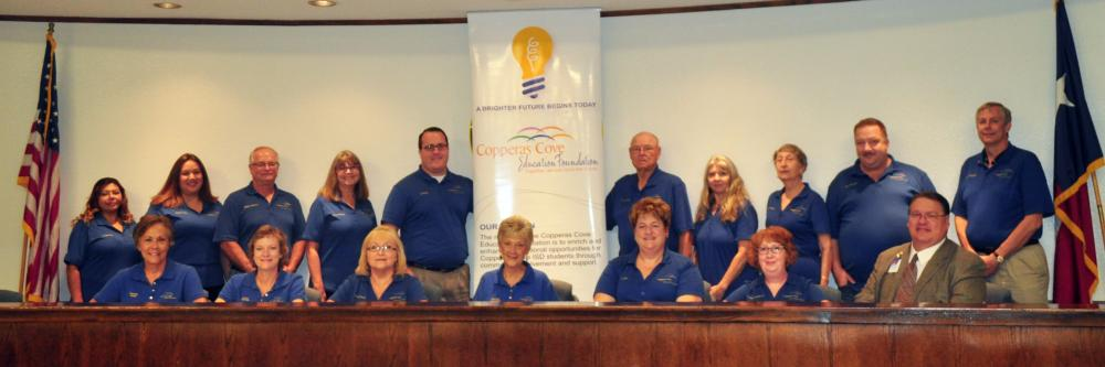 2017-2018 Copperas Cove Education Foundation Board Picture
