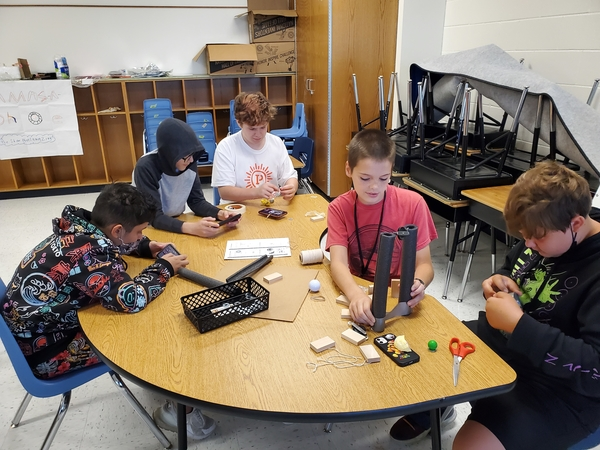 STEM Camp Day 3 - Students work on their Move It project