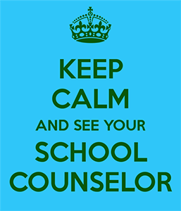Text Graphic with Crown - Keep Calm and See Your School Counselor