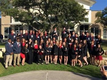 Group Photo of 2016 DECA Winners.  See Names Below