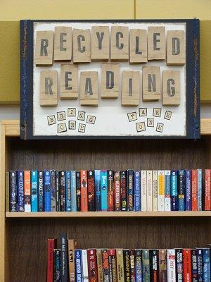 CCHS Library Recycled Reading Shelf