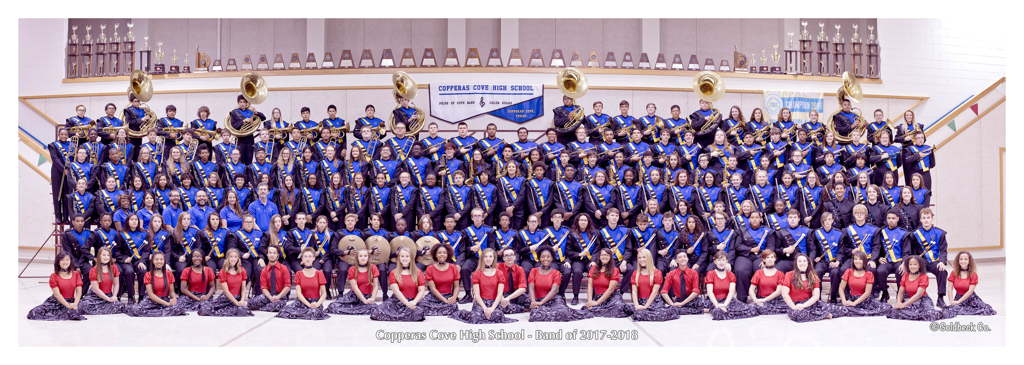 Copperas Cove High School Pride of Cove Band for 2017-2018