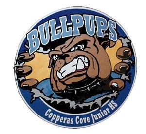 Copperas Cove Junior High School Bullpups Logo