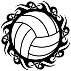 Clipart Image of a Volleyball