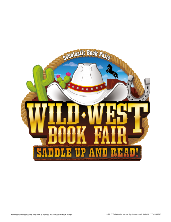 Logo for the Wild West Scholastic Book Fair