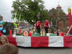 Junior Float for Homecoming 2012!