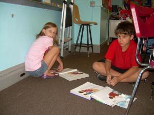 Nicholas and Olivia reading