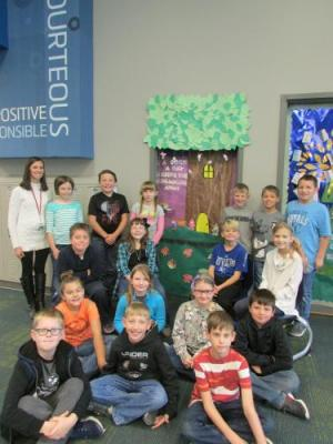 Mrs. Durand's class wins the Door Decorating Contest!