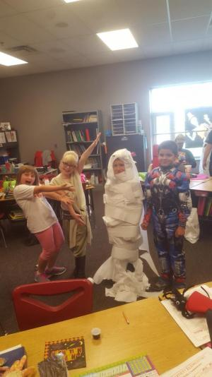 Brayden the Mummy!