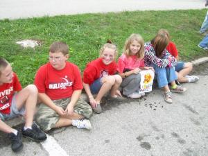 Trevor H, Trevor B, Baylee, Kiera, Micci and Brooke patiently waiting!