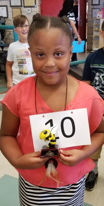 Jayden B. Spelling Bee Winner for 2017