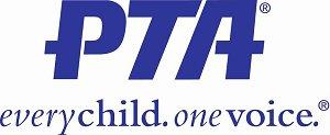 Logo which says PTA, every child one voice
