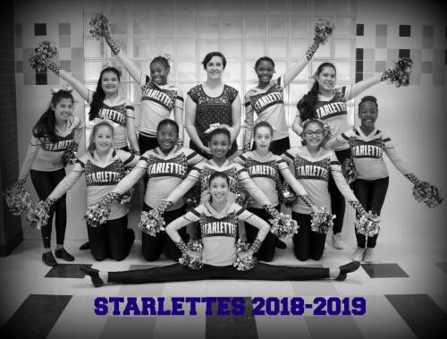 SC Lee Starlettes Dance Team black and white photo