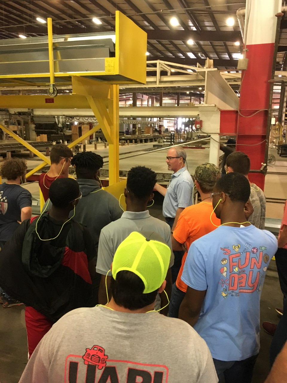 Jump Start Summer 2019 welding students on-site visit at Fibrebond.
