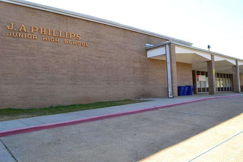Landscape View facing J.A. Phillips Elementary School
