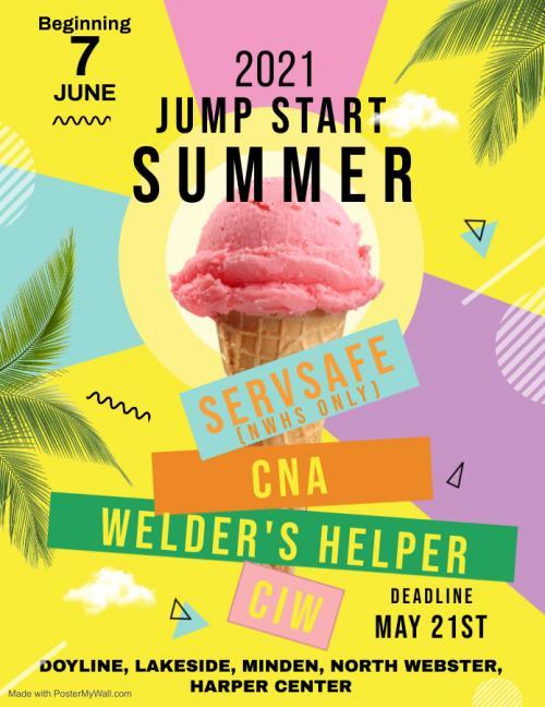 Jump Start Summer 2021 Flyer