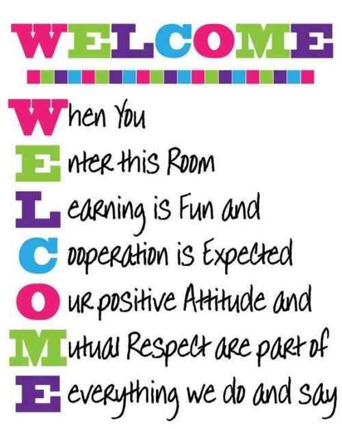 Welcome Rules