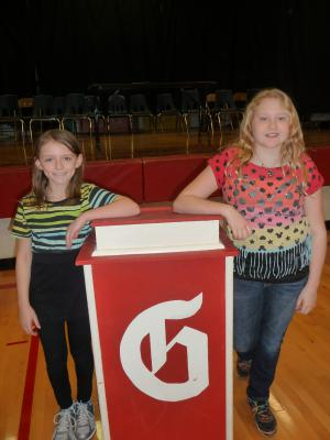 Spelling Bee Champion:  Emma    Runner-Up:  Loralei
