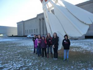 5th/6th grade visit the Nelson Atkins Museum