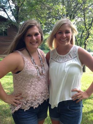 Bailey (on left) and her friend Hannah