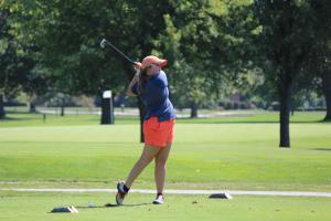 Bailey competes for the Baker University WGolf team