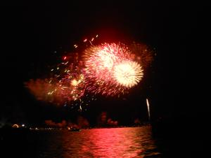Fireworks on Clear Lake