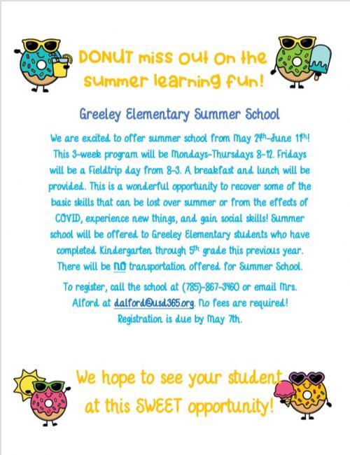 Summer School flyer 2021