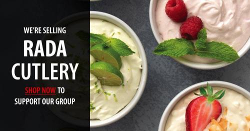 bowls of food Rada knife advertisment