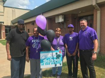 Knights Win Clean School of the Month!
