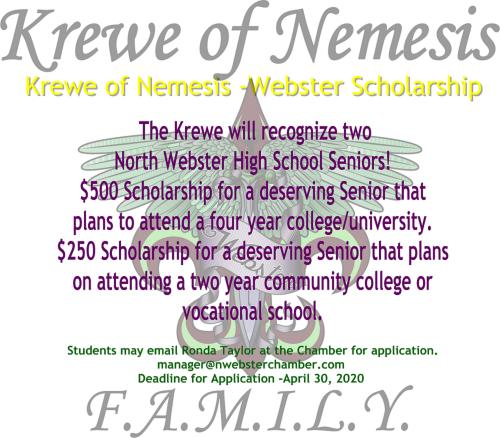 Krewe of Nemesis Scholarship Flyer