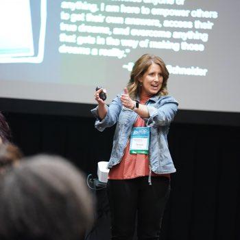 Tamara Konrade presenting