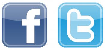 Twitter and Facebook Logos