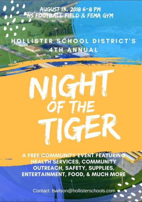 Night of the Tiger, August 13